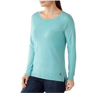 Smartwool Blue Pinyon Pointelle Pullover Sweater S